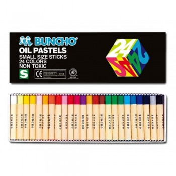 BUNCHO Oil Pastels Small Size Sticks - 24 colors