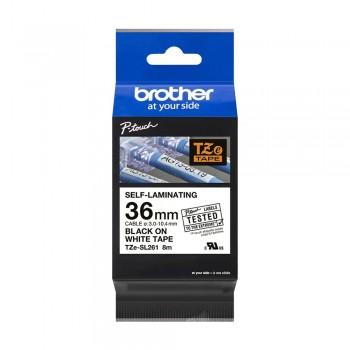 Brother TZe-SL261 Genuine Self Laminating Label, 36mm Black on White