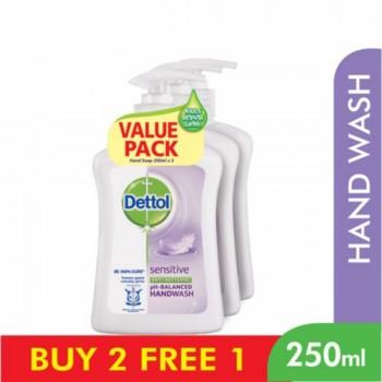Dettol Hand Wash Sensitive 250ml x 3 Value Pack