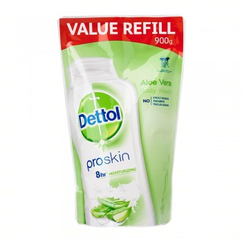 Dettol Shower Gel Aloe Vera 900ml Value Refill Pouch