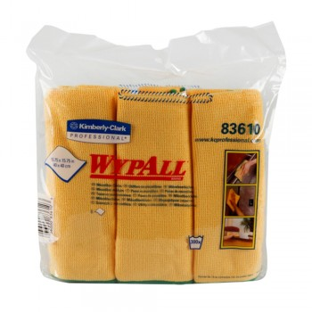 WYPALL Microfibre Cloths - Yellow x 6's/Pack