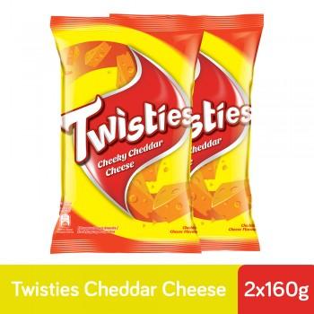 Twisties Cheddar Cheese (160g x 2)