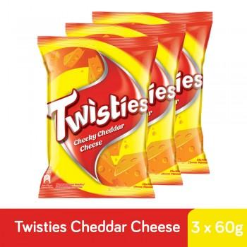 Twisties Cheddar Cheese (60g x 3)