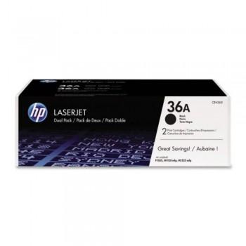 HP 36AD Black Dual Pack LaserJet Toner Cartridges (CB436AD)