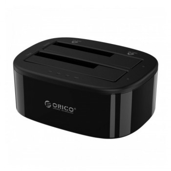 Orico 6228US3-C Dual Bay Super Speed USB 3.0 HDD Docking Station with Off Line Clone - Black
