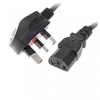 3 Pin PC Power Cord Cable with Fuse 1.5m
