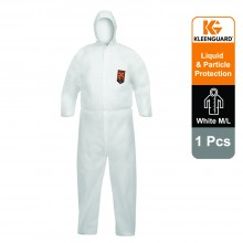 KleenGuard™ A40 Liquid & Particle Protection Hooded Coveralls 97910 - White, M, 1x1 (1 total)