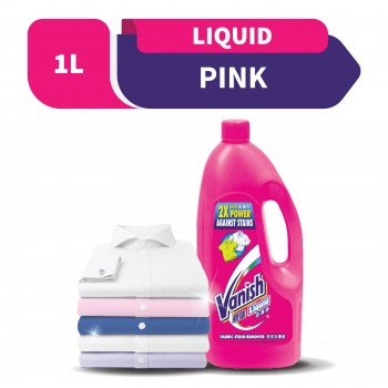 Vanish Fabric Stain Remover Liquid Pink 1L