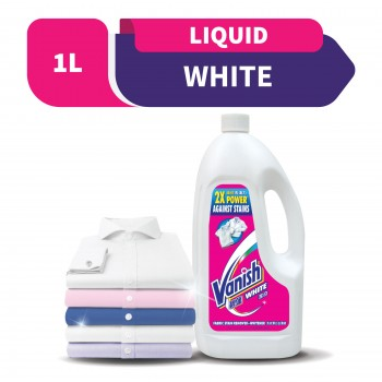 Vanish Fabric Stain Remover Liquid White 1L