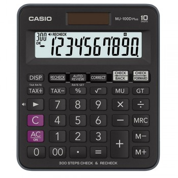 Casio Desktop Calculator - 10 Digits, 300 Steps Check & Recheck, Tax Calculation (MJ-100D-PLUS)