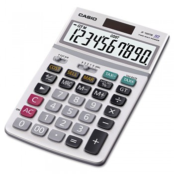 Casio Calculator - 10 Digits, Solar & Battery, Cost/Sell/Margin, Tax Calculation (MS-100TM)