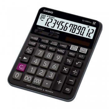 Casio Desktop Calculator - 12 Digits, 300 Steps Check & Recheck (DJ-120D-PLUS)