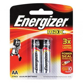 Energizer MAX AA Alkaline Batteries - 2psc pack (Item No: B06-05) A1R2B218 [220037587]