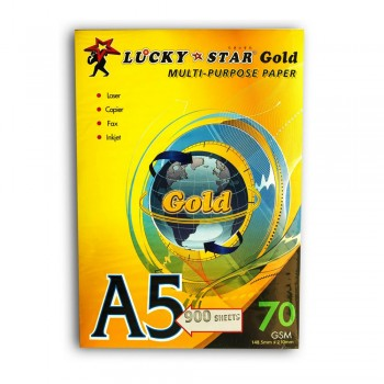 Lucky Star Gold Paper - A5 Size 70gsm (900sheets/Pack)