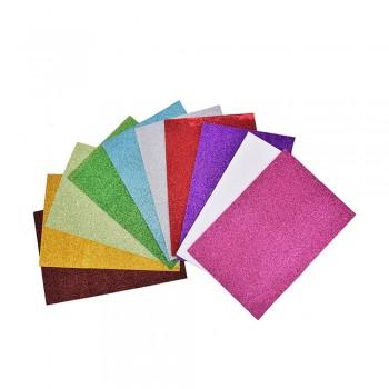 A4 Glitter Eva Foam Sheet Mixed Color - 20 x 29.5 x 1.5cm,10pcs