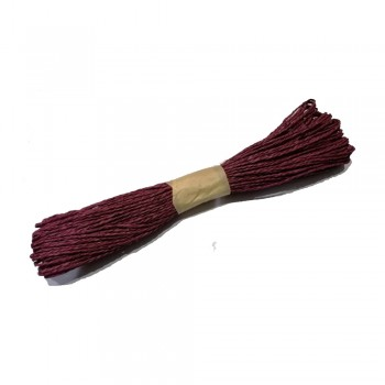 Colorful Paper Rope 25meters - Maroon
