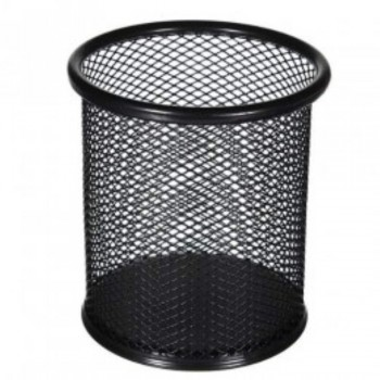 Pen Holder Round Mesh Pen Pot - Black (Item No: B01-24BK) A1R2B23