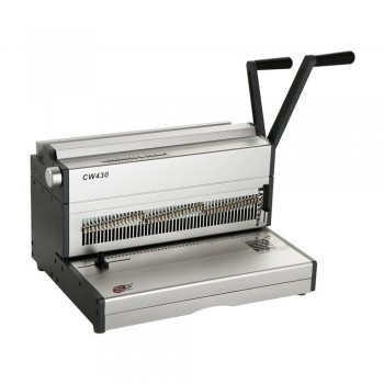 SUPU CW430 Manual Double Wire Punch and Binding Machine - (430mm A3 3 : 1 Pitch Aluminum)