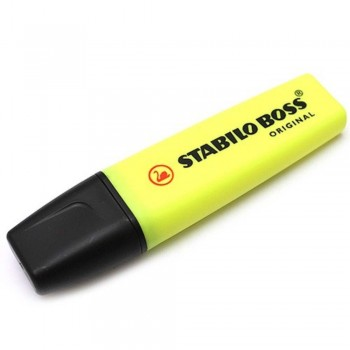 STABILO Boss Original Highlighter Pen - 70/24 YELLOW (Item No: A14-01 SSBOSSYL) A1R3B59