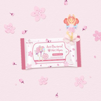 Aufairy Anti Bacterial Wipes - Sakura Scent - 10pcs (4 in 1)