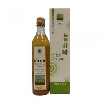 Oasis Wellness Organic Brown Rice Vinegar 520ml (No Sugar)