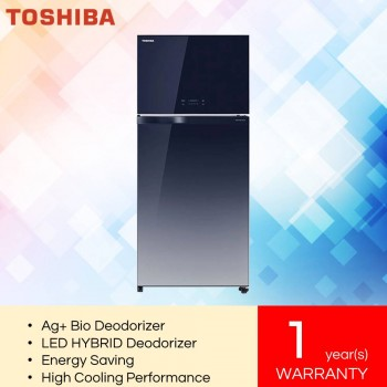Toshiba GR-AG58MA (GG) 2-Doors Duo Hybrid, Inverter Refrigerator (610L)