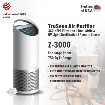 Trusens Z-3000 Air Purifier with SensorPod Air Quality Monitor, Large Room - 750 Sq Ft Range