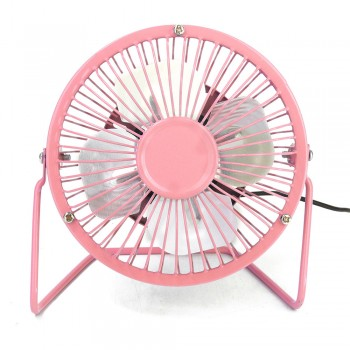 "4"" Metal Mini Fan (Pink)"