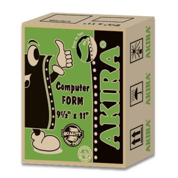 "Akira Green 1Ply 60Gsm 9.5"" X 11"" (1000Fans 2Up)"